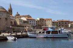 Haven van Alghero - Sardinige - Italië Stock Afbeelding