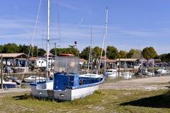 Haven van Andernos -andernos-les-bains in Frankrijk Royalty-vrije Stock Fotografie
