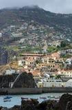 Haven van Camara de Lobos - Madera, Portugal Royalty-vrije Stock Afbeeldingen