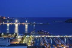 Haven van Cartagena bij nacht Stock Fotografie