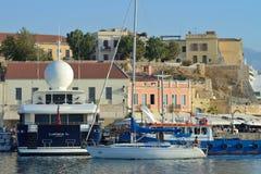Haven van Chania, Griekenland Stock Fotografie