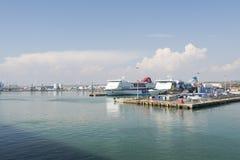 Haven van Civitavecchia - Italië Stock Foto