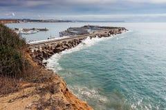 Haven van Conil in Cadiz stock foto's