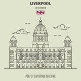 Haven van de Bouw van Liverpool in Liverpool, het UK Oriëntatiepuntpictogram royalty-vrije stock foto's