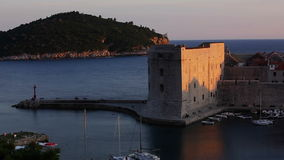 Haven van de Dubrovnik de oude stad stock footage