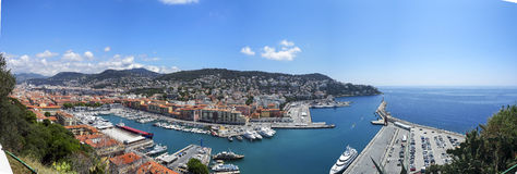 Haven van de Stad van Nice, Zuid-Frankrijk Stock Foto's