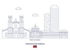 Haven - van - de Stadshorizon, Trinidad en Tobago van Spanje Stock Foto's