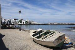 Haven van Famara Lanzarote Royalty-vrije Stock Afbeelding
