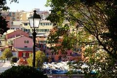 Haven van Genoa Nervi van de Promenade Stock Afbeelding