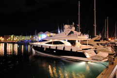 Haven van Genua in nacht Royalty-vrije Stock Fotografie