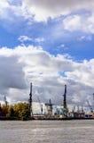 Haven van Hamburg Stock Afbeeldingen