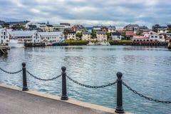 Haven van Honningsvag in Finse Mark, Noorwegen Stock Afbeelding