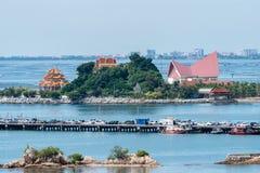 Haven van Koh Loy Siracha Thailand stock foto