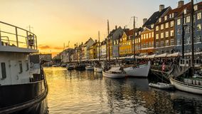 Haven van Kopenhagen stock foto