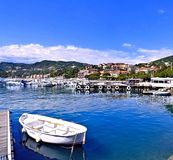 Haven van Lerici Italië op de Middellandse Zee stock afbeelding