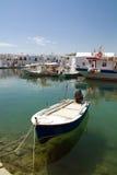 Haven van Naoussa, Paros eiland, Griekenland Stock Foto