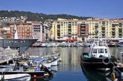 Haven van Nice in Frankrijk Stock Afbeeldingen
