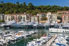 Haven van Nice, Frankrijk Stock Afbeeldingen