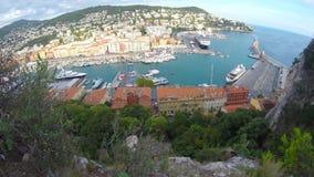 Haven van Nice, Franse riviera stock footage