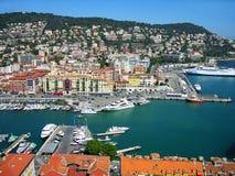 Haven van Nice, Kooi d'Azur, Frankrijk royalty-vrije stock foto's