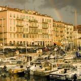 Haven van Nice na het onweer Royalty-vrije Stock Foto