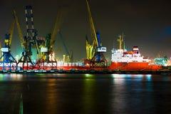 Haven van Novorossiysk-droog-ladingsschip royalty-vrije stock afbeeldingen
