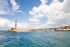 Haven van oude stad Chania Stock Afbeelding