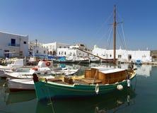 Haven van Parikia, Paros-eiland, Griekenland Royalty-vrije Stock Afbeeldingen