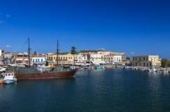 Haven van Rethymno, Kreta royalty-vrije stock foto