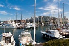 Haven van Rimini stock foto's