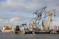 Haven van Rotterdam Stock Afbeeldingen