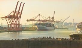 Haven van Seattle en RuimteNaald royalty-vrije stock fotografie