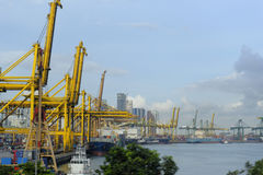 Haven van Singapore stock foto's