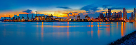 Haven van Singapore royalty-vrije stock foto