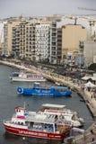 Haven van Sliema, Malta. Stock Afbeelding