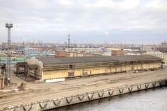 Haven van stad Heilige Petersburg Royalty-vrije Stock Foto