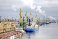 Haven van stad Heilige Petersburg Stock Foto