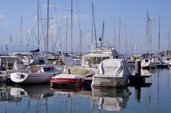 Haven van Thonon les Bains in Frankrijk royalty-vrije stock afbeelding