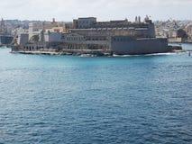 Haven van Valletta Malta van de bastionen van de stad stock afbeelding