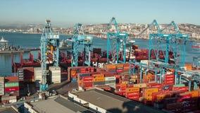 Haven van Valparaiso, Chili stock video