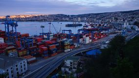 Haven van Valparaiso Timelapse 4K stock videobeelden