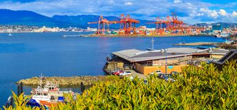 Haven van Vancouver Royalty-vrije Stock Foto