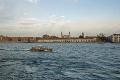 Haven van Venetië, Italië, 2016 Stock Foto