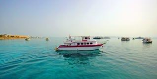 Haven van Vissersboten Hurghada royalty-vrije stock foto