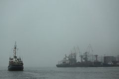 Haven van Vladivostok op Japanse overzees Royalty-vrije Stock Foto