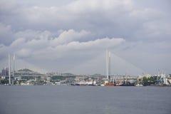 Haven van Vladivostok Primorye Rusland Stock Afbeelding