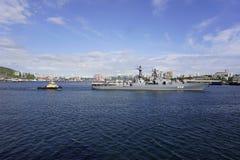 Haven van Vladivostok Primorye Rusland Stock Afbeeldingen