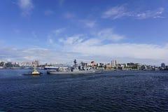 Haven van Vladivostok Primorye Rusland Royalty-vrije Stock Foto's