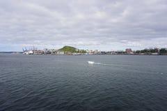 Haven van Vladivostok Primorye Rusland Royalty-vrije Stock Afbeeldingen