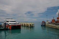 Haven van Zanzibar, Tanzania stock foto's